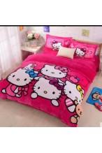 Selimut Bulu Hello Kitty Kuartet