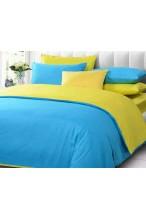Biru turquise - Kuning muda